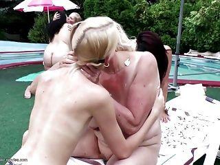 posh lesbische gruppe liebe mit pissing grannies