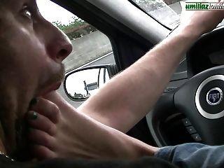 Fahren mit giulia volle Fußherrschaft im Auto