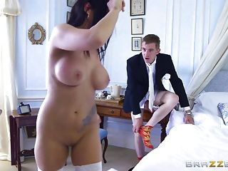 Brazzers betrügt Braut Simon Diamond liebt anal