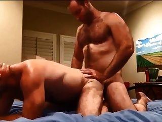 zwei behaarte Männer ficken und cumming