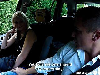 unglaubliche Realität Fremde Voyeure beobachten tschechischen Taxi