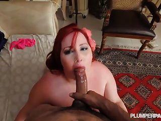 Redhead ssbbw eliza lockt Schwalben und fickt riesigen Schwanz