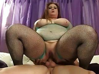 big fat bbw bitch liebt einen Schwanz in ihrem hungrigen Arschloch