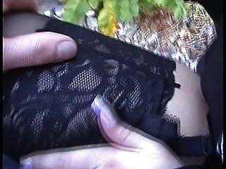 deutscher Nutte auf die Nylons gewichst der ganze clip