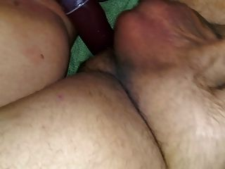 haarige bbw Frau pov Doppel-Dong Dildo Strapon pegging Ass