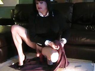 sexy stephanie cd mit riesigem dildo