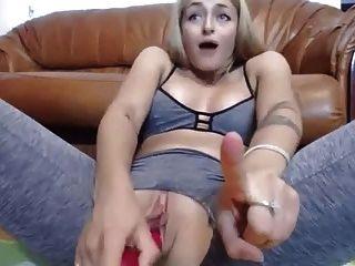 Spritzen Masturbation Haariges Mädchen Orgasmus