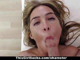 thisgirlsucks heiße blonde Gags und deepthroats riesigen Schwanz