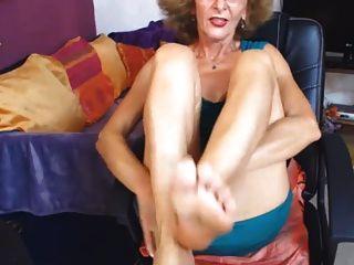 sexy gilf Füße im Gesicht Cam kein Ton