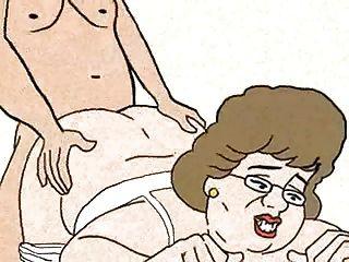 Junge gefickt Oma im Hundestil und Cums! Animation!