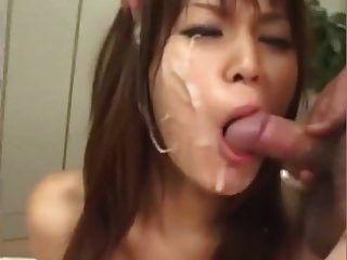 ppp 079 japanisch Bukkake + Sperma im Mund + Sperma waschen unzensiert