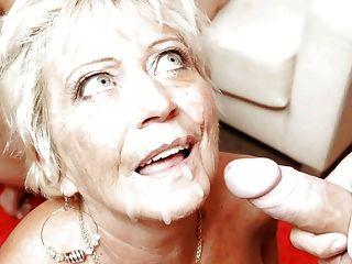 Oma liebt Schwanz und Sperma