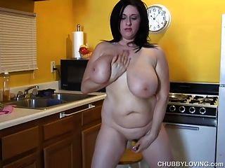 riesige Brüste bbw Schönheit liebt, ihre fette saftige Pussy ficken 4 u