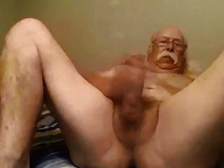 großen weißen Schnurrbart Papa wichsen