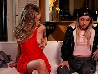 Goldie Rush und Rachel James erstaunlich teenie lesbischen Sex