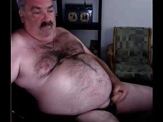Opa Sperma vor der Kamera