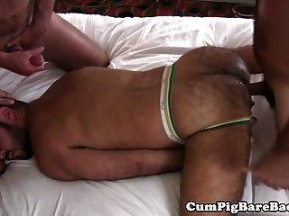 Bär barebacked von reift in Gruppe fuck