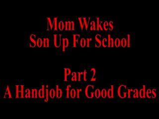 Mutter weckt Sohn für Schule Teil 2