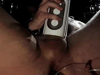 Butt Plug und Taschenlampe cum