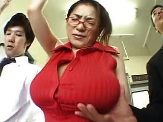 (dicke Titten) anna ohura train grope.mpg