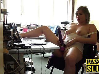 mollig blonde schlampe misha mayfair spielt mit ihrem sex spielzeug