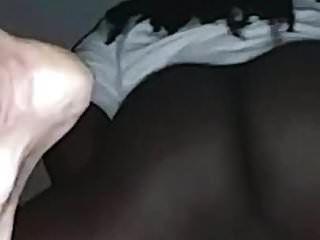 Haarig Schwarz Muschi Weiß Schwanz