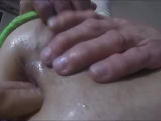 Sperma in meinen klaffenden Arsch