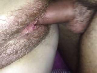 Riesige haarige Muschi Creampie