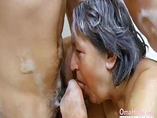 Omahotels haarige Oma und lustvolle Pärchen zu dritt