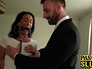 brünette milf ella bella bekommt einen harten analsex von pascal