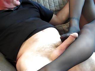 nylon footjob mit einer sexy milf