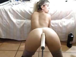 sexy arsch blond immer maschine gefickt großen dildo in arsch muschi