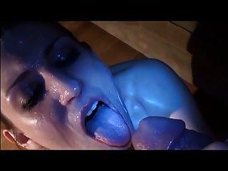 Gesichtsbehandlung Gesichtsbesamung Sperma im Mund