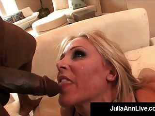 mega milf julia ann macht interracial monster facial \u0026 anal!