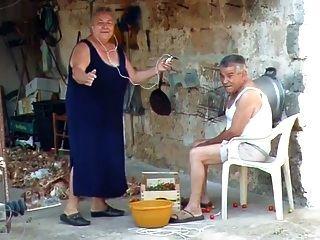 bbw italienische Oma ruft Opa zum Ficken