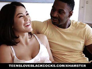 tlbc asiatisches Mädchen liebt schwarzen Schwanz