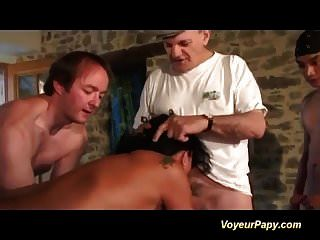 extrem französisch milf in wild voyeur papy orgie gefickt