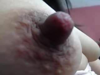 langer harter Nippel