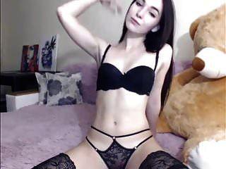 sexy brünette striptease und masturbieren, lange haare, haare