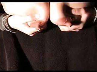 hucow-euter hängen und tropfen milch