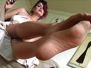 sexy reife Nylonfüße
