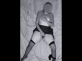 kam spät nachts nach Hause erwischt, wie er sich zur Orga masturbierte