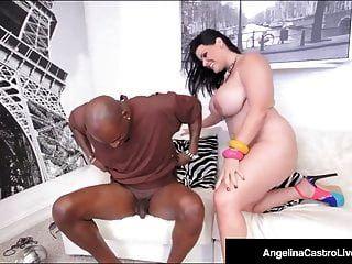 Cuban Bbw Angelina Castro sitzt auf großen schwarzen Schwanz für einen Verkauf!