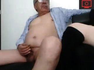 Opa und ihr junger Schwanzlutscher