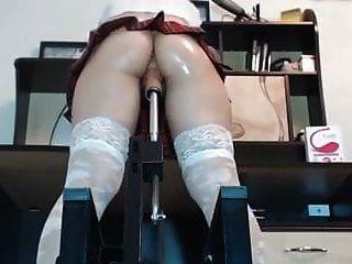 engen Arsch Tartan Rock Maschine gefickt Fingerring und spritzen