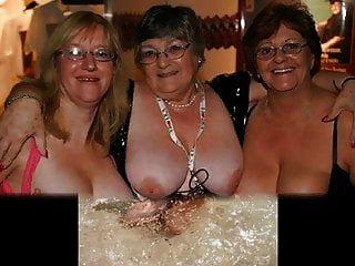 reift und Omas sehen die Titten an